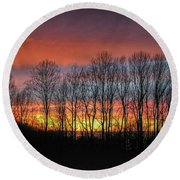 Bare-branched Beauty Round Beach Towel