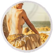 Bare Elegance Round Beach Towel