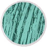 Bark Texture Turquoise Round Beach Towel