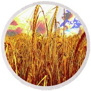 Barley Round Beach Towel