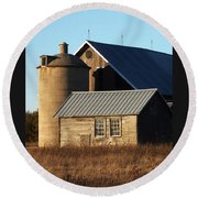 Barn At 57 And Q Round Beach Towel