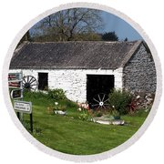 Barn At Fuerty Church Roscommon Ireland Round Beach Towel