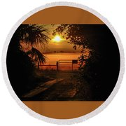 Barn Bridge Round Beach Towel