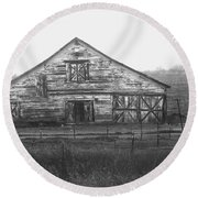 Barn Of X Round Beach Towel