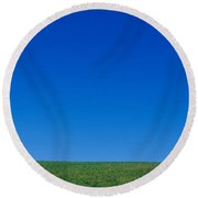Barn On A Landscape, New Hampshire, Usa Round Beach Towel