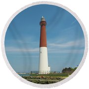 Barnegat Lighthouse Round Beach Towel