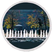 Barney Allis Plaza-kansas City Round Beach Towel