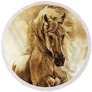 Baroque Horse Series IIi-ii Round Beach Towel