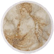 Baroque Mural Painting Round Beach Towel