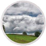 Barre Clouds 2181 Round Beach Towel