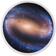 Barred Spiral Galaxy Ndc 1300 Round Beach Towel