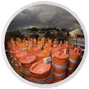 Barrels O'dab Round Beach Towel