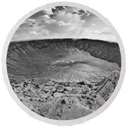 Barringer Meteor Crater #2 Round Beach Towel