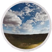 Barringer Meteor Crater #4 Round Beach Towel