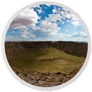 Barringer Meteor Crater #5 Round Beach Towel