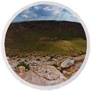 Barringer Meteor Crater #6 Round Beach Towel