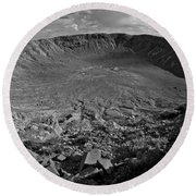 Barringer Meteor Crater #7 Round Beach Towel