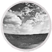 Barringer Meteor Crater Round Beach Towel