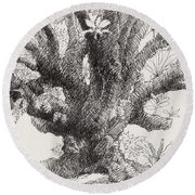 Barringtonia Tree Round Beach Towel