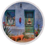 Barrio Viejo With Character Round Beach Towel