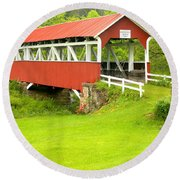 Barron's Covered Bridge Round Beach Towel