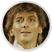 Barry Manilow, Music Legend Round Beach Towel