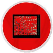 Barry Sadlers Nazi Medals Collection Round Beach Towel