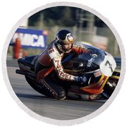 Barry Sheene. 1978 Nations Motorcycle Grand Prix Round Beach Towel