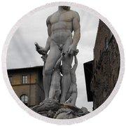 Bartolomeo's Neptune Fountain 2 Round Beach Towel