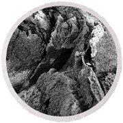 Basalt Textures Round Beach Towel