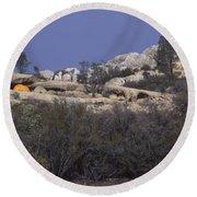 Base Camp - White Ledge Plateau - San Rafael Wilderness Round Beach Towel