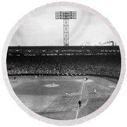 Baseball: Fenway Park, 1956 Round Beach Towel