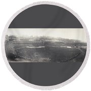 Baseball Game, 1904 Round Beach Towel