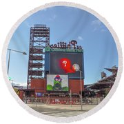 Baseball In Philadelphia - Citizens Bank Park Round Beach Towel