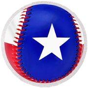 Baseball Star Round Beach Towel
