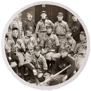 Baseball: West Point, 1896 Round Beach Towel