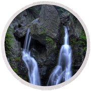 Bash Bish Falls Round Beach Towel