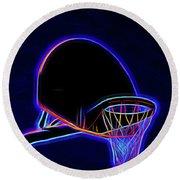 Basketball 121617-1 Round Beach Towel