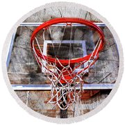 Basketball Art Version 28 Round Beach Towel