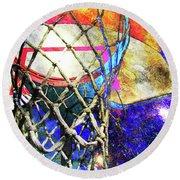 Basketball Artwork Version 179 Round Beach Towel