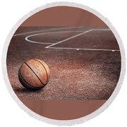 Basketball Round Beach Towel