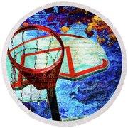Basketball Dream Round Beach Towel