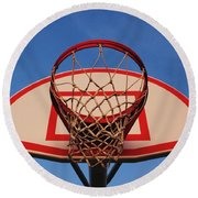 Basketball Hoop Round Beach Towel