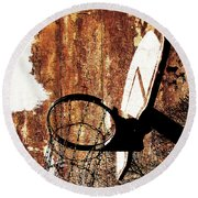 Basketball Hoop Version 6 Round Beach Towel