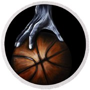 Basketball Legend Round Beach Towel