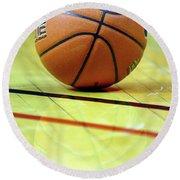 Basketball Reflections Round Beach Towel