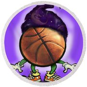 Basketball Wizard Round Beach Towel