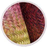 Baskets Of Provence Round Beach Towel
