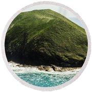 Bass Strait Island Wilderness Round Beach Towel