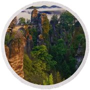 Bastei Round Beach Towel